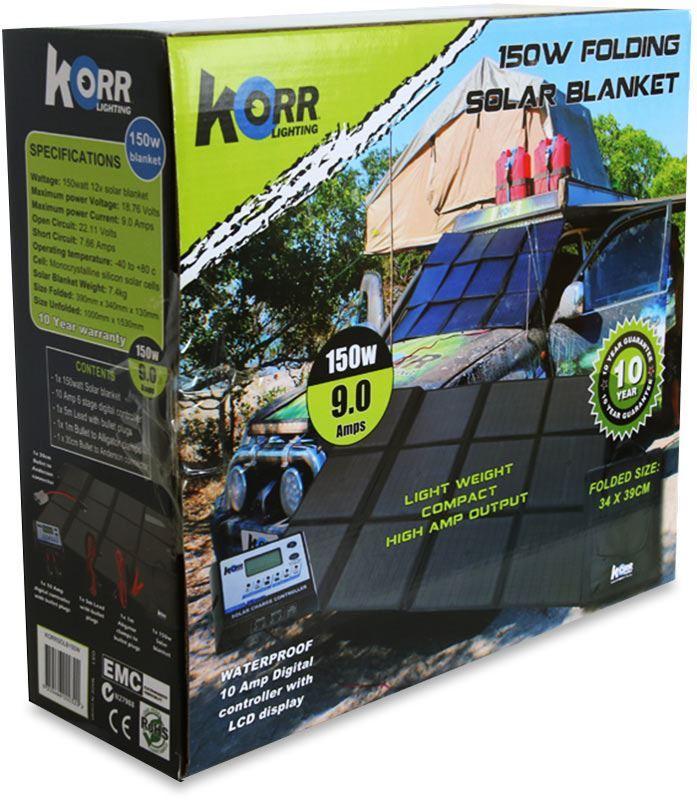 Korr 150W Folding Solar Blanket