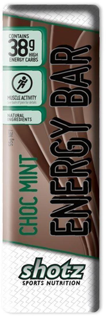 Shotz Sports Nutrition Energy Bar Choc Mint