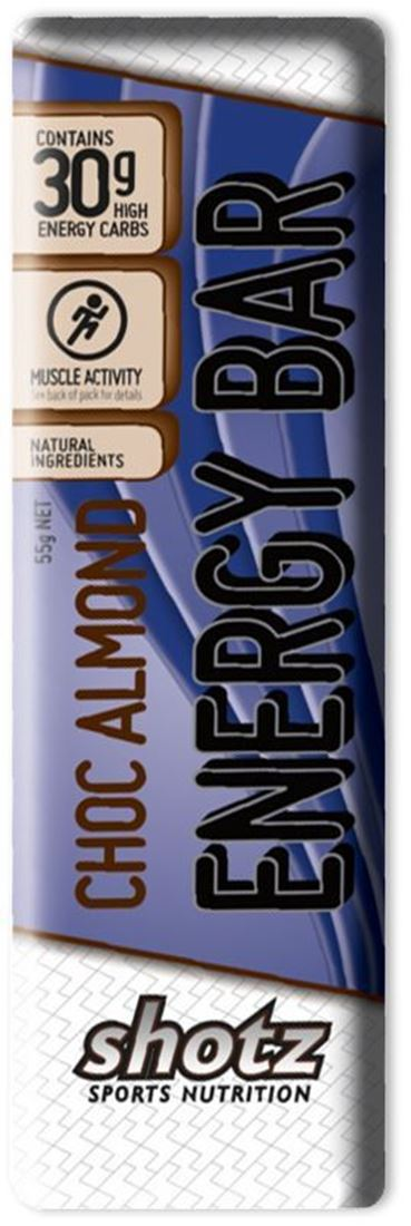 Shotz Sports Nutrition Energy Bar Choc Almond
