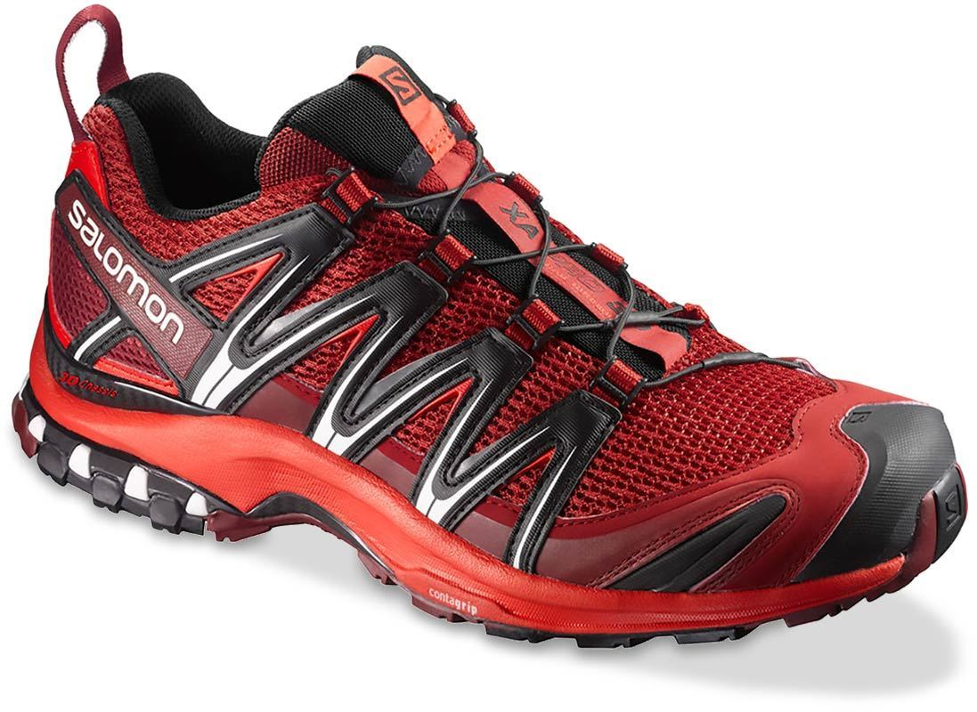 Salomon XA Pro 3D Men's Shoe US 8 Red Dalhia Fiery Red Black