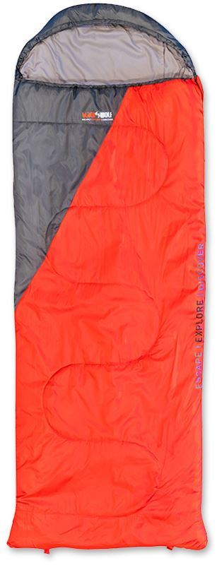 Black Wolf Solstice King 450 Sleeping Bag Red Charcoal