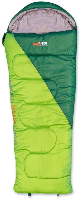 Black Wolf Star 300 Kids Sleeping Bag Green Forest