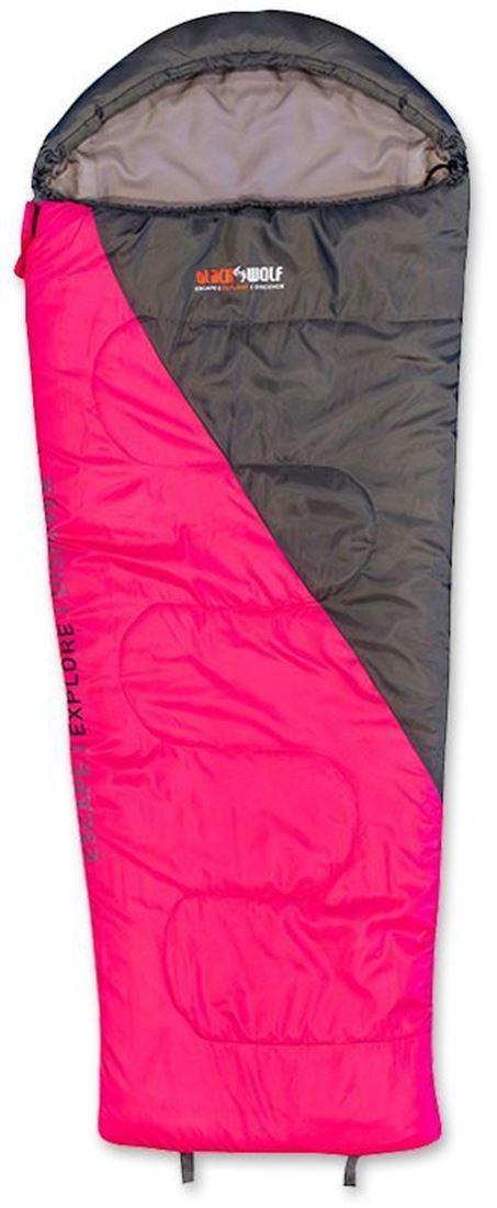 Black Wolf Star 500 Kids Sleeping Bag Pink Charcoal