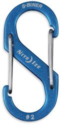 Nite Ize S-Biner Dual Carabiner Aluminium #2 Blue