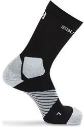 Salomon XA Pro Running Sock Small Black Forged Iron