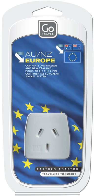 Go Travel European Adaptor Packaging