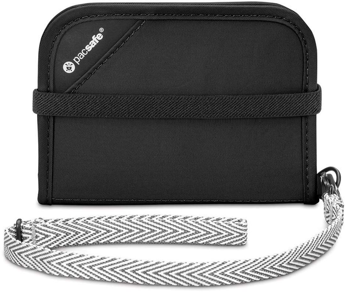 Pacsafe RFIDsafe V50 Compact Travel Wallet Black
