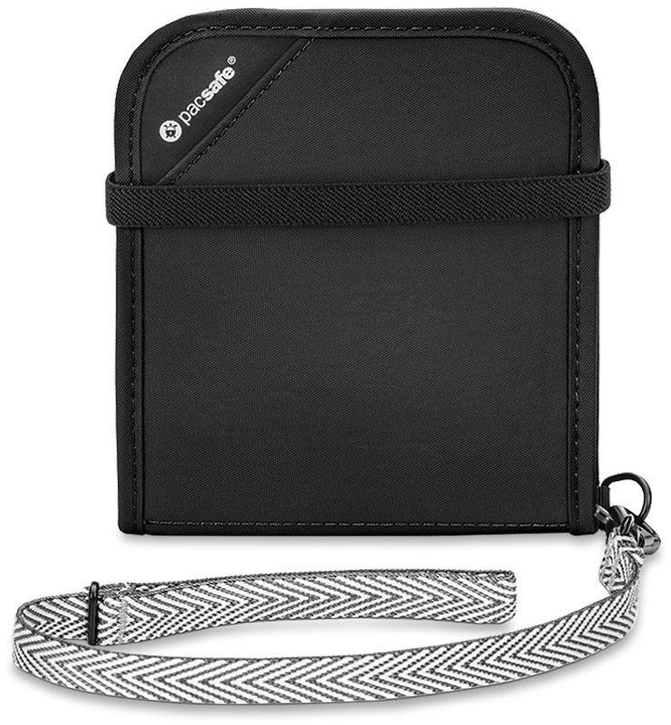 Pacsafe RFIDsafe V100 Bi-Fold Travel Wallet Black