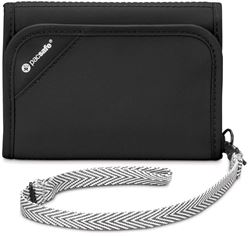 Pacsafe RFIDsafe V125 Tri-Fold Travel Wallet Black