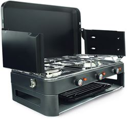 Zempire 2 Burner Gas Camp Stove with Grill