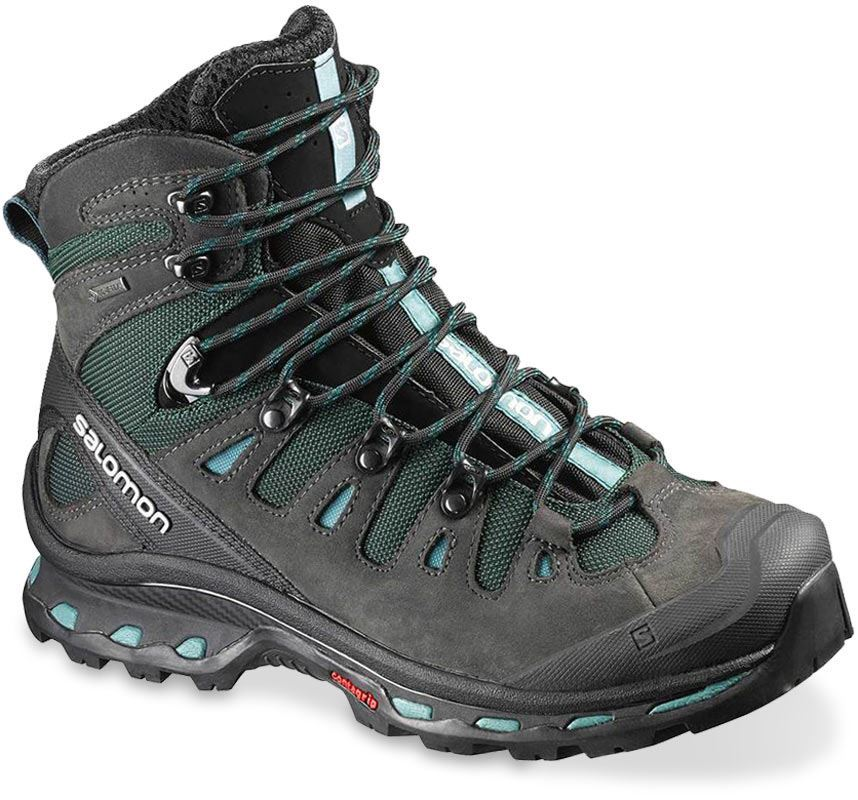 Salamon Quest 4D 2 GTX Wmn's Boot US Asphalt Green Blue