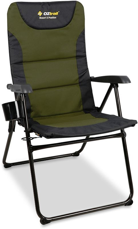 Oztrail Resort 5 Position Recliner - Green