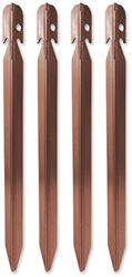 Zempire Aluminium Tri Pegs 4 Pack - Brown
