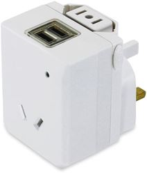 OSA Brands Universal Travel Adaptor with USB