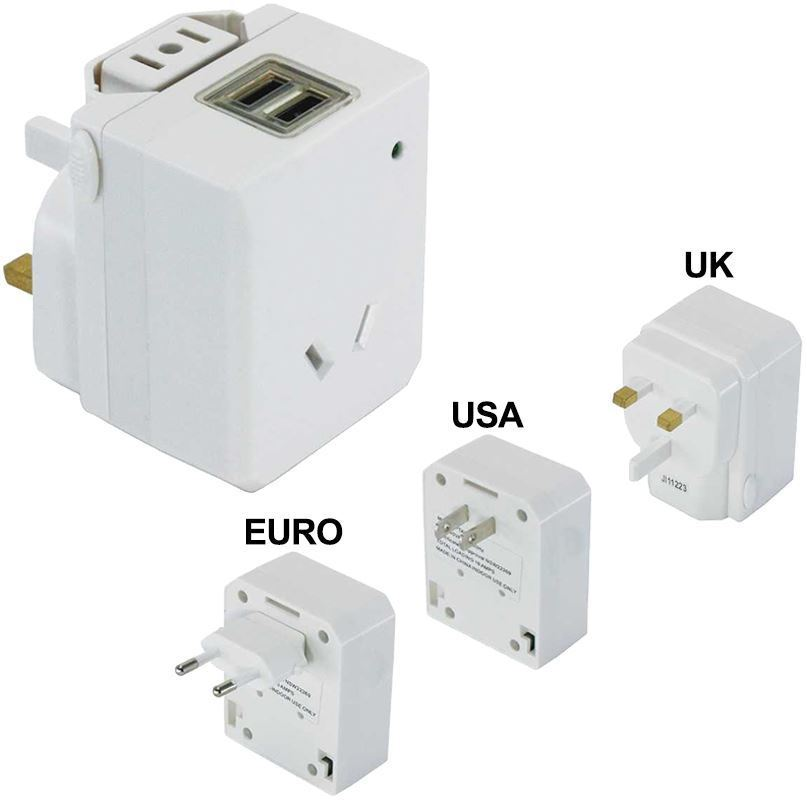 Edge Travel Products Universal Travel Adaptor with USB