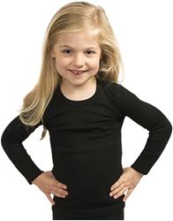 360 Degrees Polypro Active Kids Thermal Top Black