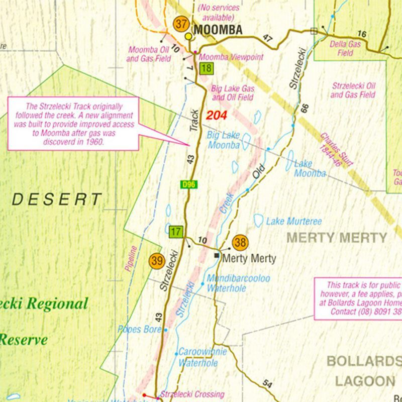 Picture of Westprint Birdsville & Strzelecki Tracks Map