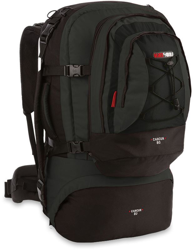 Black Wolf Cancun 80L Travel Pack - Black/Titanium