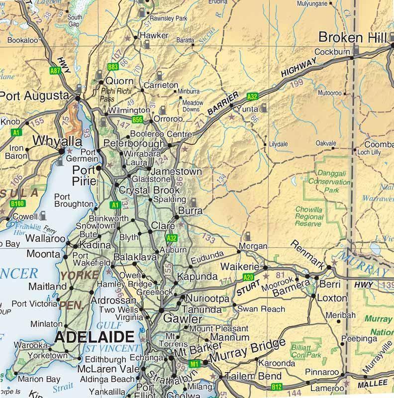 Picture of Hema Australia Road & Terrain Map
