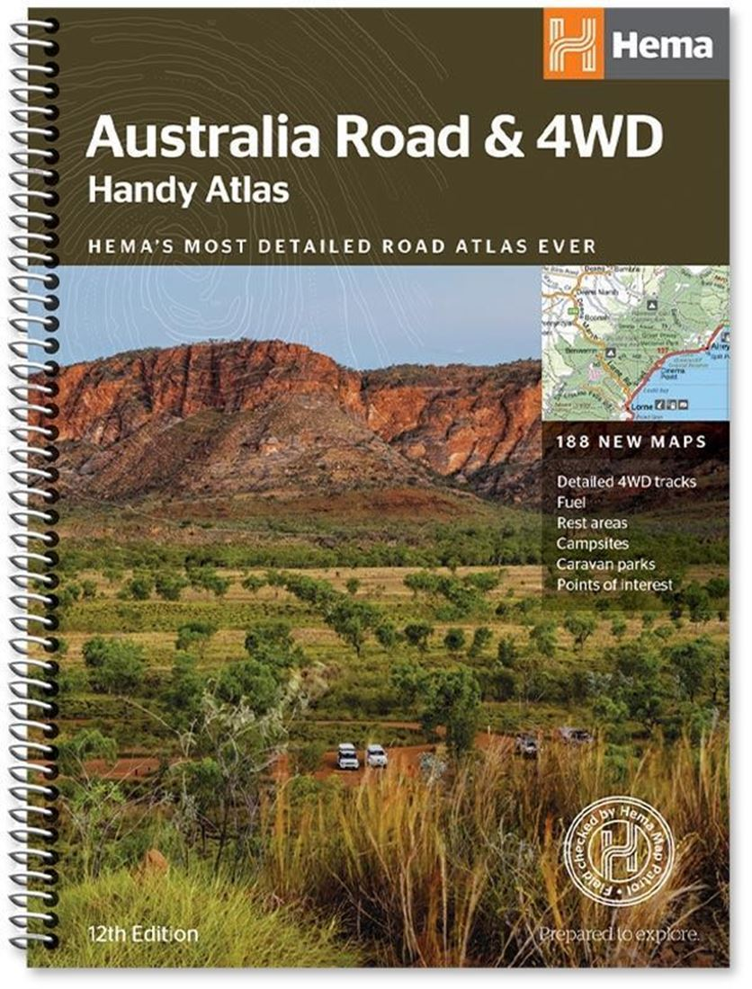 Hema Australia Road & 4wd Handy Atlas