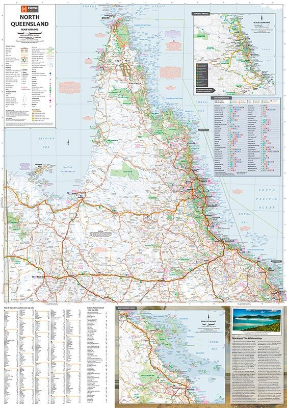 Map Queensland.North Queensland Map