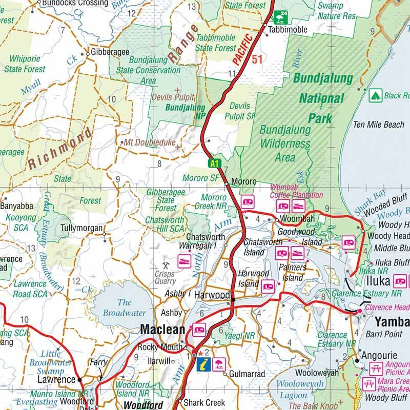 Picture of Hema North East New South Wales Map