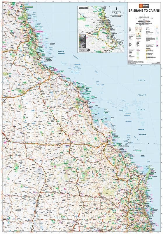 Picture of Hema Brisbane to Cairns Map