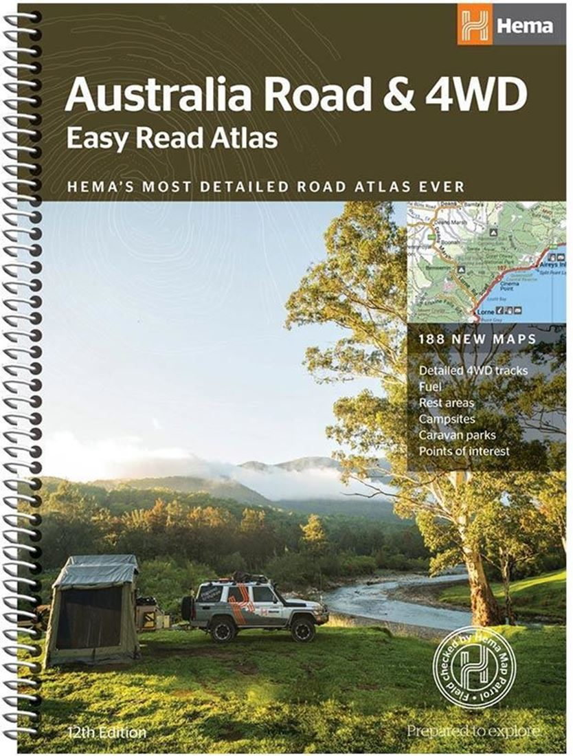 Hema Australia Road & 4wd Easy Read Atlas