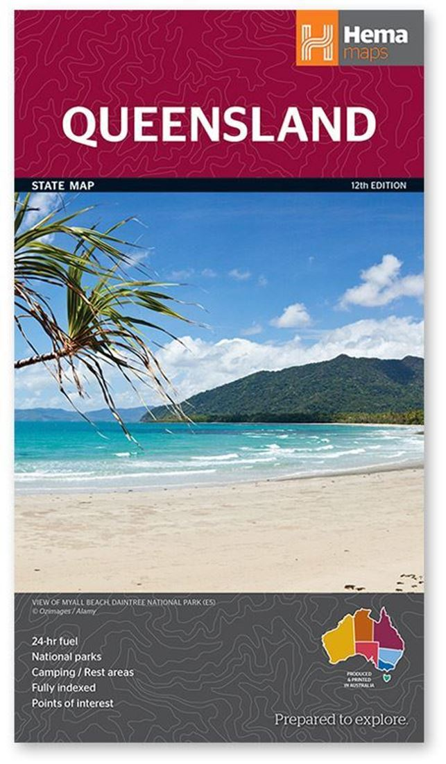 Hema Queensland State Map