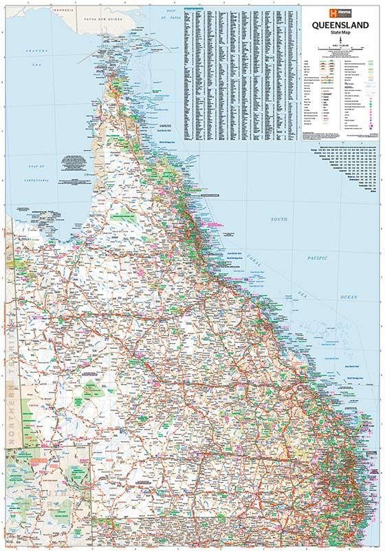 Picture of Hema Queensland State Map