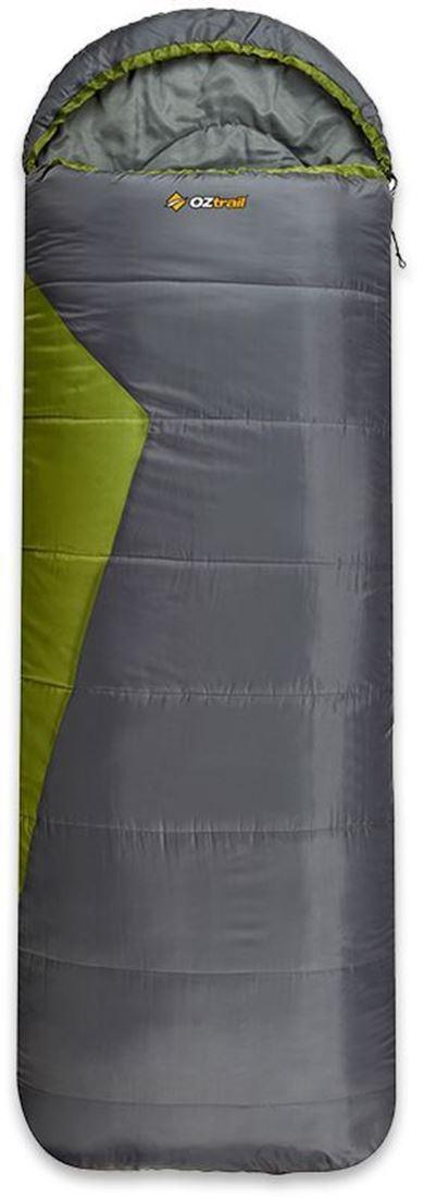 Oztrail Blaxland Jumbo Hooded Sleeping Bag Green