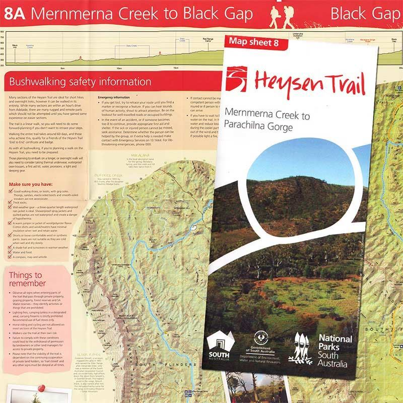 Picture of DEWNR Heysen Trail Map 8 Mernmerna - Parachilna