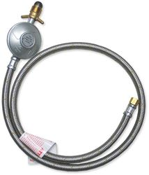 """Outdoor Connection Low Pressure Gas Hose Braid 1/4"""" BSP to POL Reg 1800mm"""