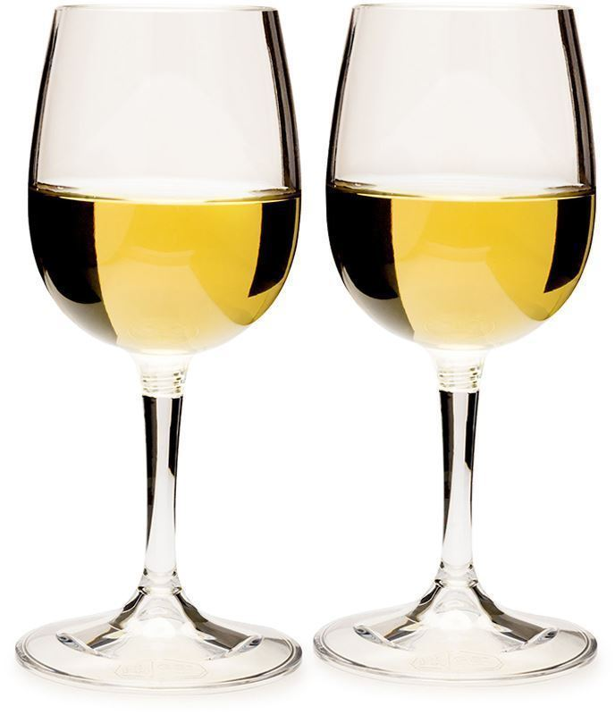 GSI Outdoors Nesting Wine Glass Set  - with white wine