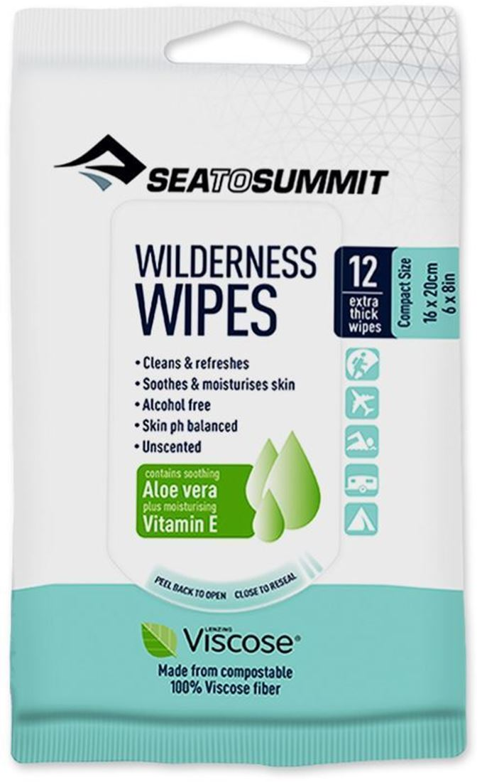 Sea to Summit Wilderness Wipes Compact 12 Pk