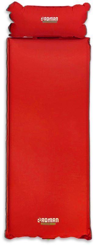Roman Tornado Self Inflating Mat + Pillow - Red