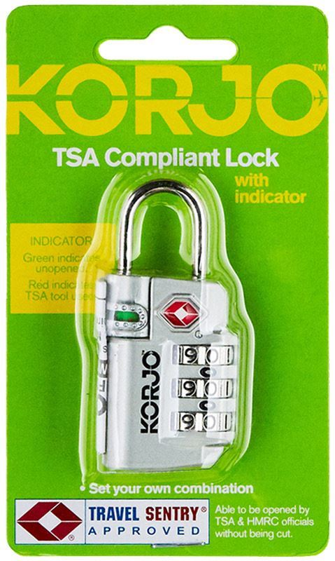 Korjo TSA Security Locks - Black