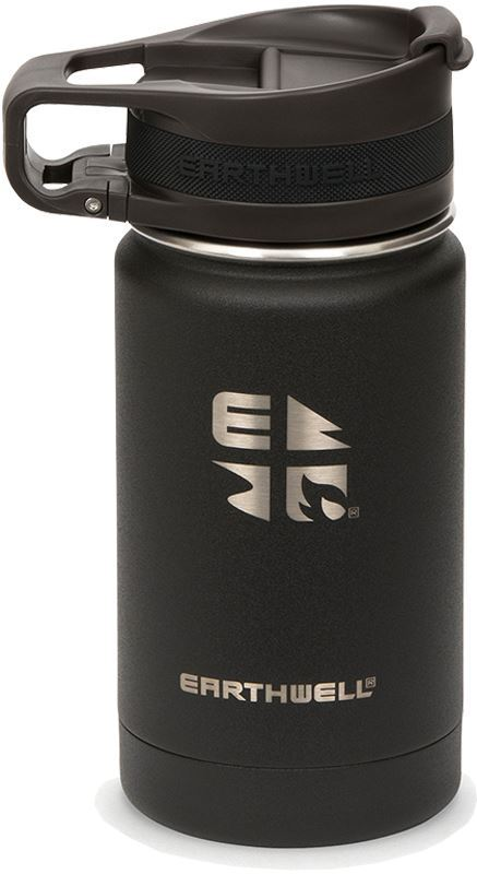 Earthwell Roaster Loop Cap Vacuum Bottle 355 ml Volcanic Black