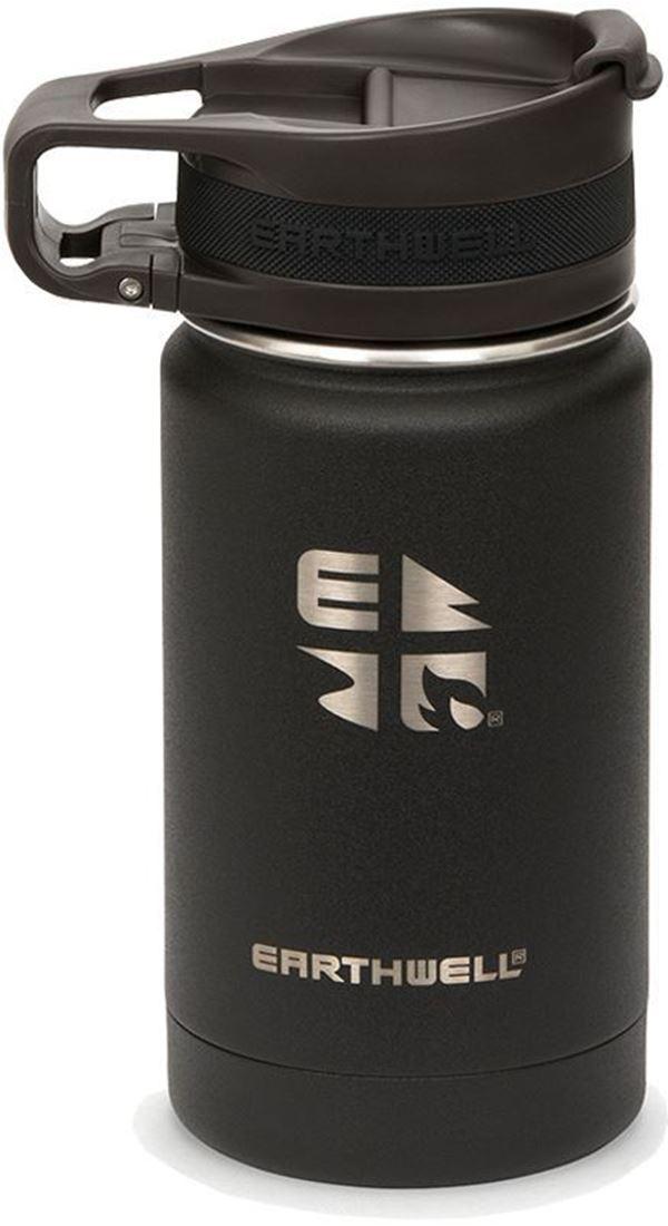 Earthwell Roaster Loop Cap Vacuum Bottle 355 ml Volcanic Black