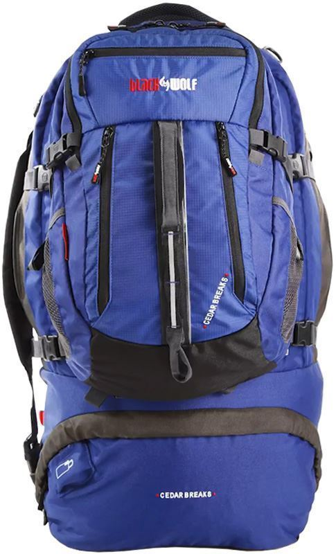 Black Wolf Cedar Breaks 90L Travel Pack - Front view