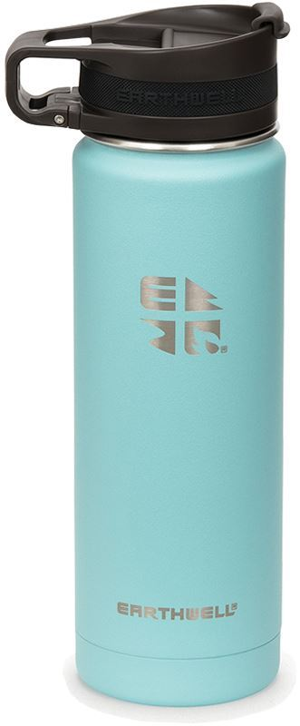 Earthwell Roaster Loop Cap Vacuum Bottle 592 ml Aqua Blue
