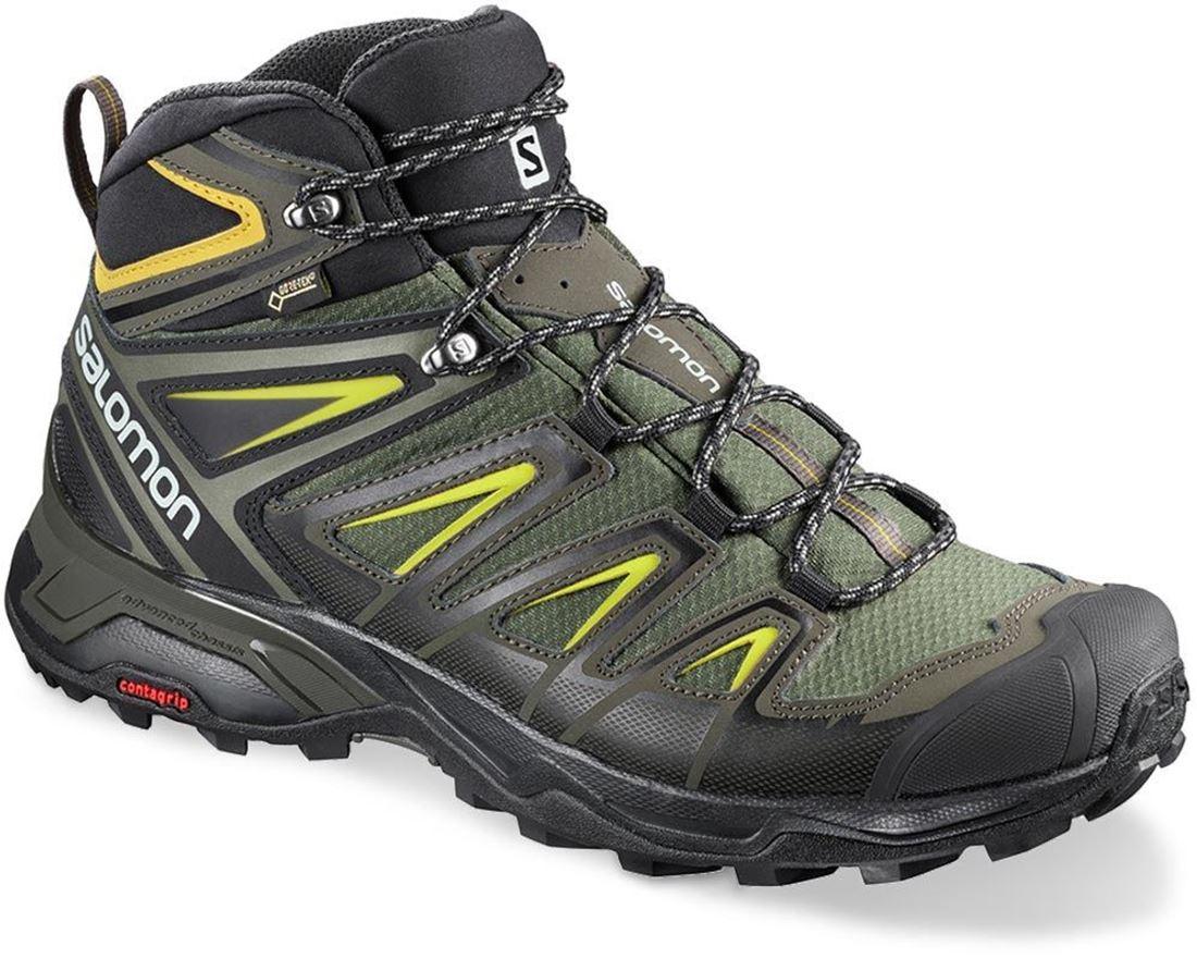 Salomon X Ultra 3 Mid GTX Men's Boot Castor Grey Black Green Sulphur