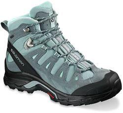 Salamon Quest Prime GTX Wmn's Boot Lead Stormy Weather Eggshell Blue