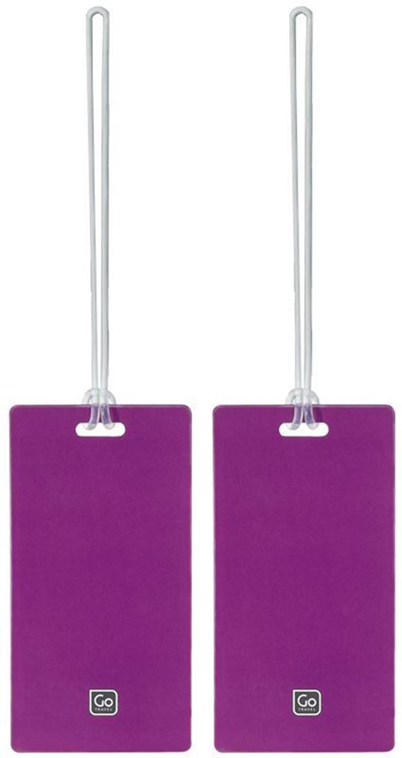 Go Travel Tag Me Luggage Tags 2Pk Purple