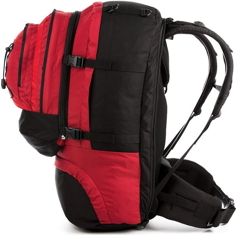 Black Wolf Cancun 70L Travel Pack - Side view