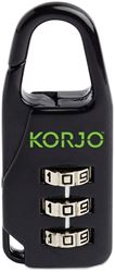 Korjo Designer Combination Lock - Black