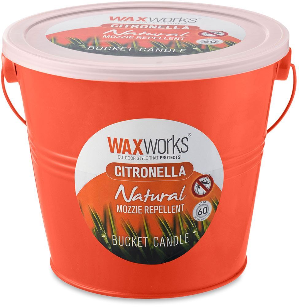 Waxworks Orange Citronella Candle Bucket 60 Hr