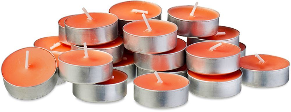 Waxworks Orange Citronella Tea Light Candle 24 Pk