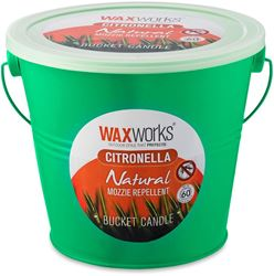 Waxworks Green Citronella Candle Bucket 60 Hr