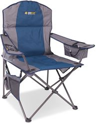 Oztrail Cooler Arm Camp Chair Blue